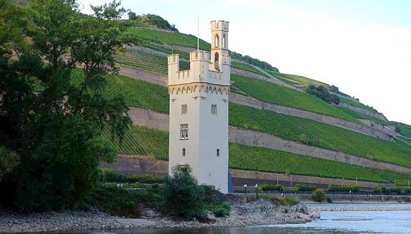Rhine river Germany mauseturm