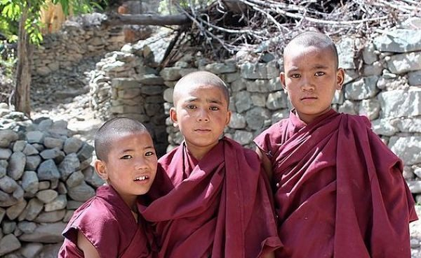 Oversea adventure travel Ladakh children budhists