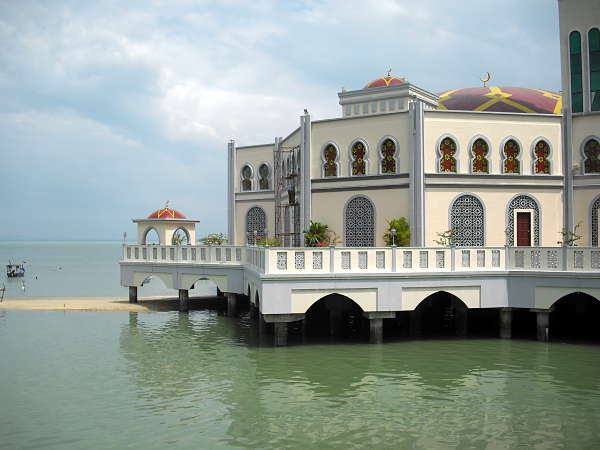 Penang island floating mosque
