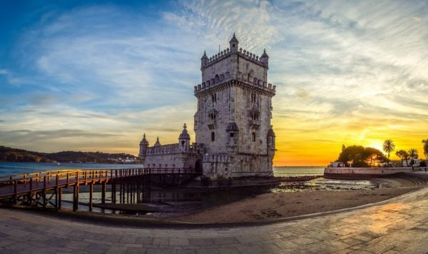 Belem-Tower-Lisbon Portugal travel on a budget
