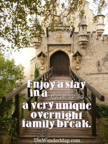 Entrance to one of the romantic castles to stay in