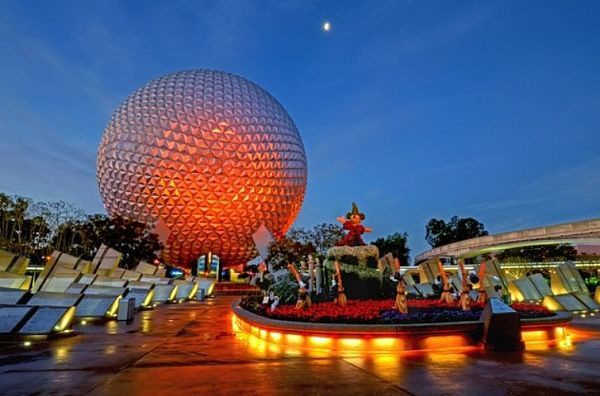 Disneyworld Epcot at night