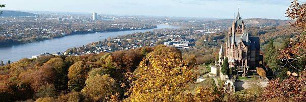 Rhine and Drachenburg Castle Bonn Germany