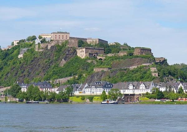 Koblenz Germany the Ehrenbreitstein fortress
