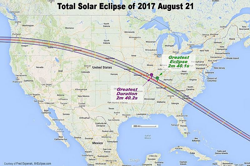 solar eclips map usa