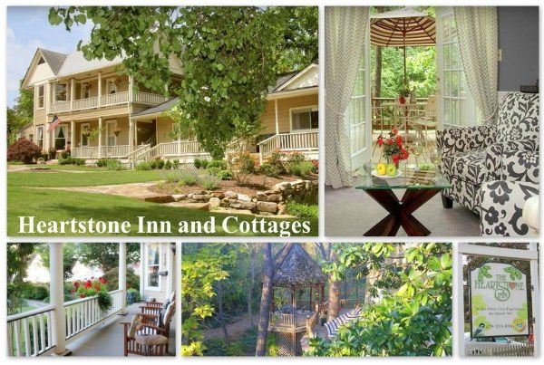 Weekend getaways in Arkansas for couples at Heartstone Inn Cottages