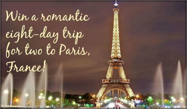 win a romantic Paris vacation